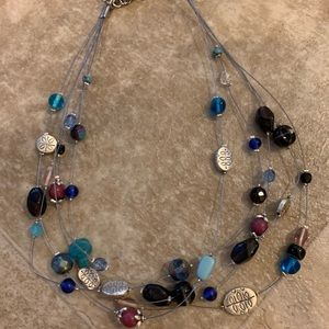 purple and blue lia sophia necklace